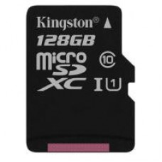 Карта пам'яті Kingston 128GB microSDXC class 10 UHS-I Canvas Select (SDCS/128GBSP)