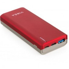 Портативний зарядний пристрій Vinga 10000 mAh soft touch red (BTPB3810QCROR)